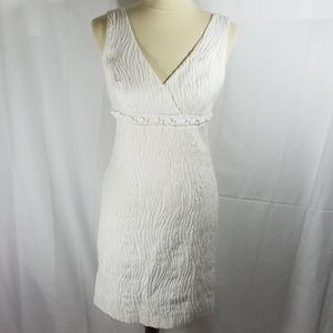 Trina Turk white embellished surplice dress sz 6